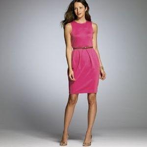"J. Crew Cotton Interlock ""Ava"" Dress in Pink 10"